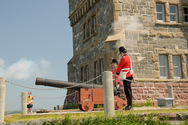 And the gun went BOOM with not a second to spare.<br /> The gun was fired precisely at noon daily.  The reasons being was to notify the residents of St. John's the time was 12 o'clock noon.  The other purpose of firing at the exact hour was that the captain of sea-faring ships could check his nautical position.  If the cannon was fired too early or too late, the ship navigator could end up 30 or more miles off course.
