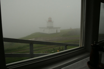 On this day the fog horn was alive and well.