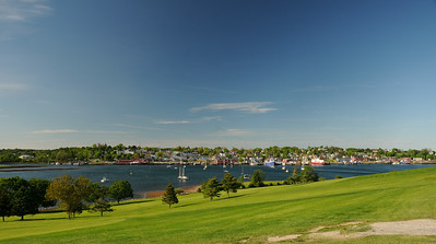 View of the townsite from the Bluenose Golf Club.