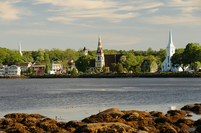 19th century church spires of Mahone Bay.