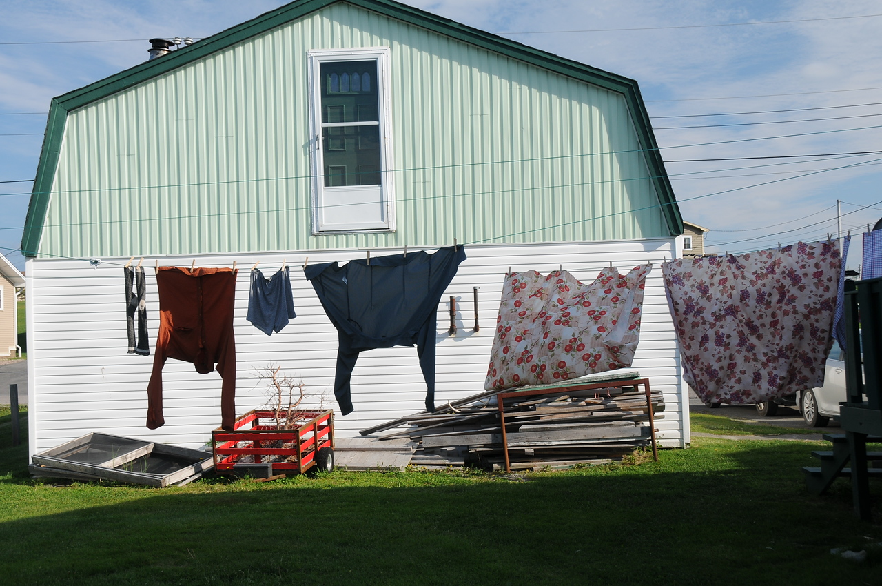 Once back at our B&B, I added a few of my washed out clothes to the line.