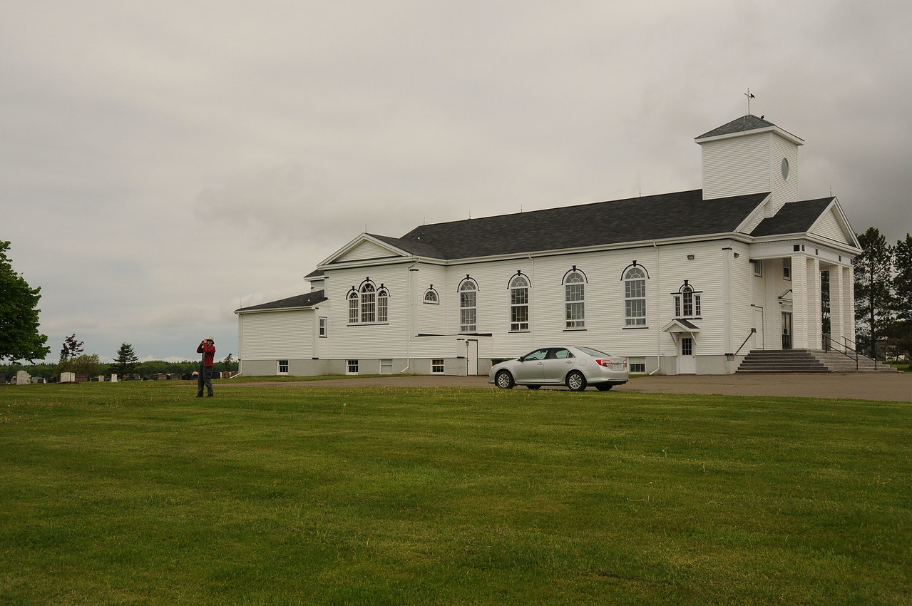 Elizabeth, our Bed and Breakfast host, suggested we make a five minute detour drive off the highway, and stop at this church to get a panoramic  view of Confederation Bridge.