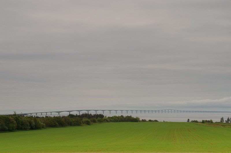 Looking across Northumberland Strait towards New Brunswick.