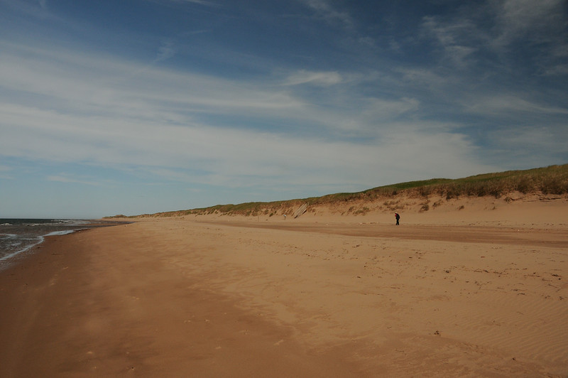 Heading back towards our entrance point.  This is one lonely stretch of beach.