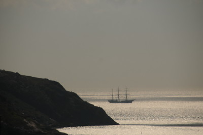 My final shot from the Penthouse balcony is of this sailing vessel anchored outside The Narrows of St. John's Harbour.