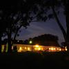 Hostel at night.