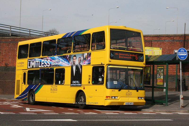 420, HJ02HFD, Yellow Buses, Bournemouth Travel Interchange