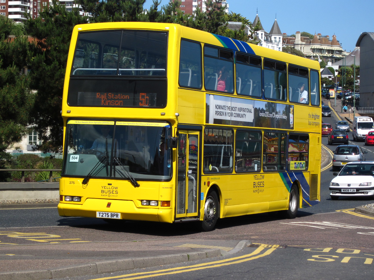 275, T275BPR, Yellow Buses, Exeter Road, Bournemouth