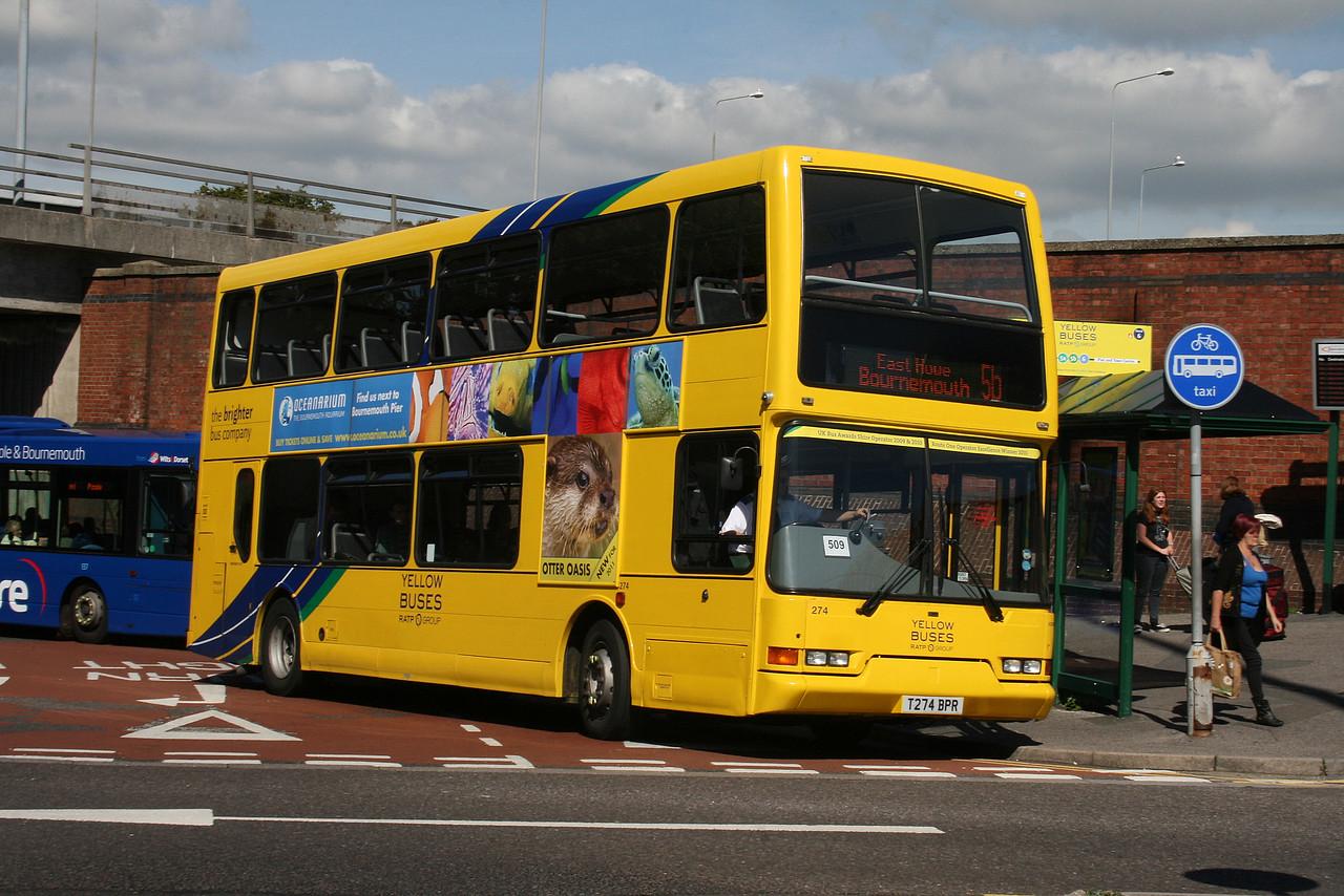 274, T274BPR, Yellow Buses, Bournemouth Travel Interchange