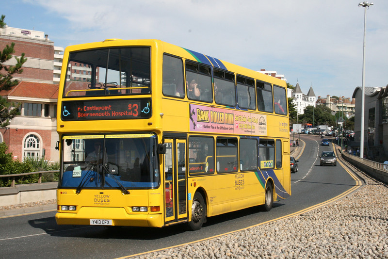 413, Y413CFX, Yellow Buses, Exeter Road, Bournemouth