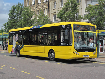 12, R12TYB, Yellow Buses, Gervis Place, Bournemouth