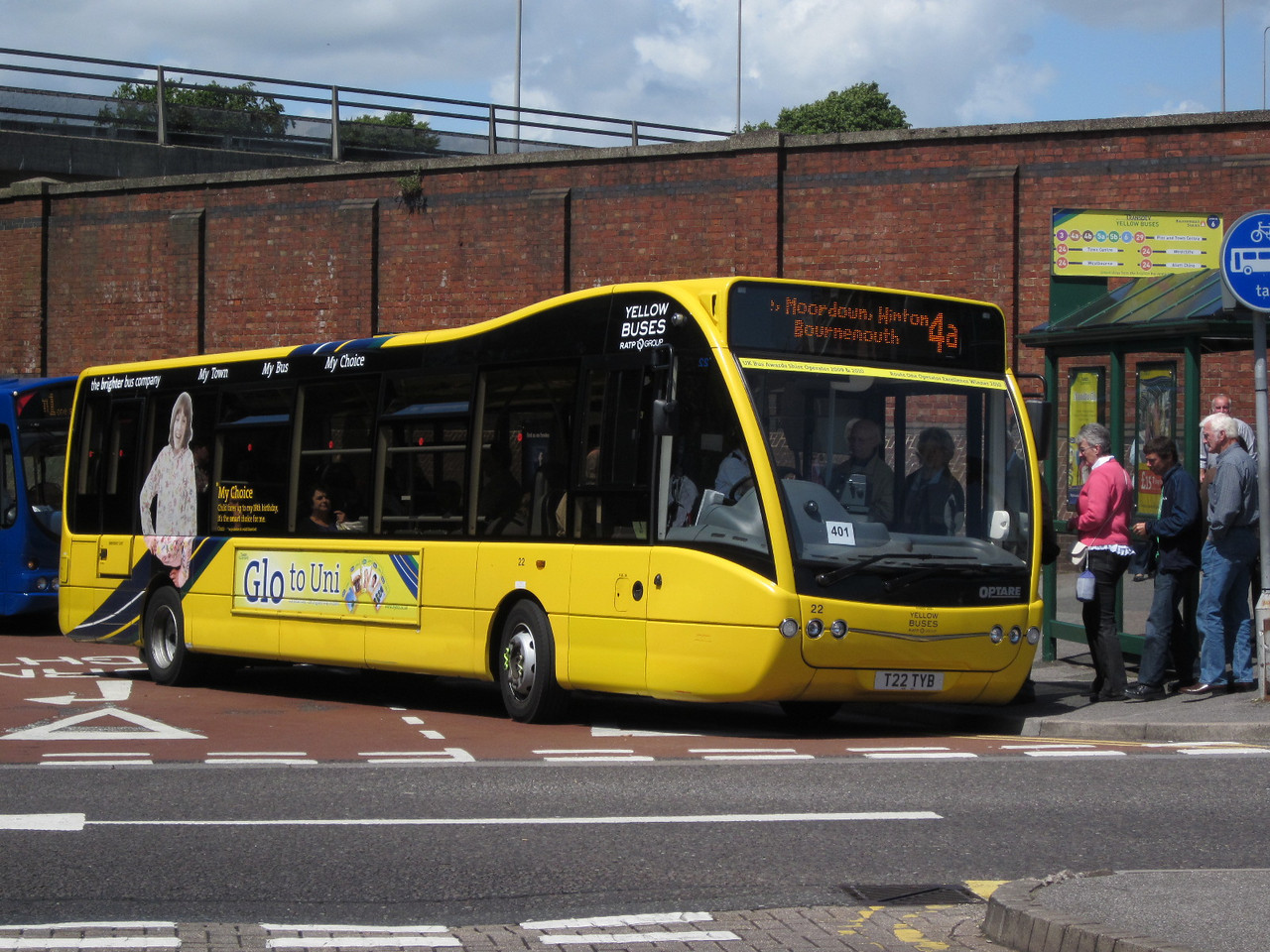 22, T22TYB, Yellow Buses, Bournemouth Travel Interchange