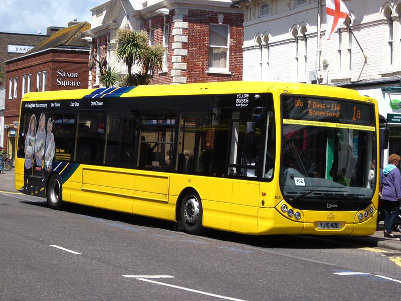 105, YJ10MDO, Yellow Buses, Christchurch High Street