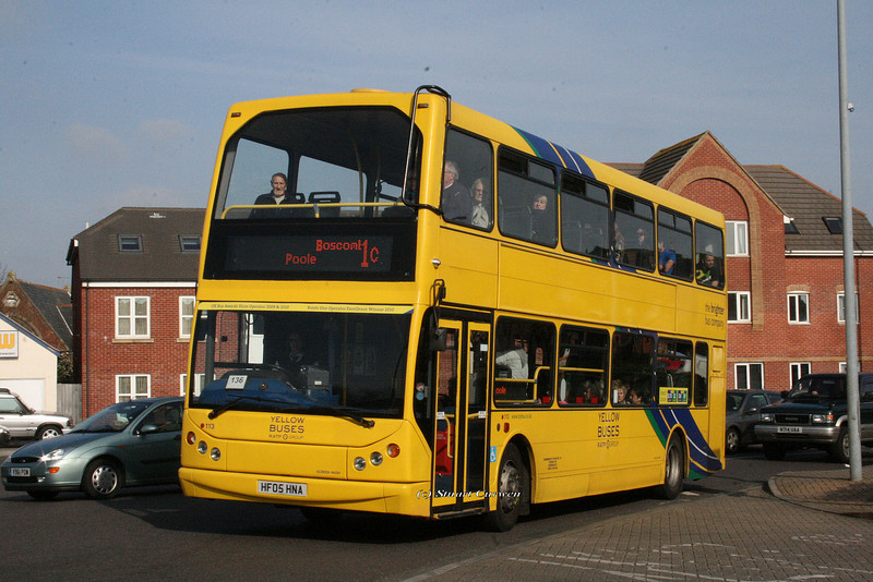 113, HF05HNA, Yellow Buses, Ashley Road, Boscombe.