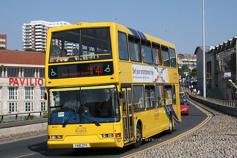 416, Y416CFX, Yellow Buses, Exeter Road, Bournemouth.