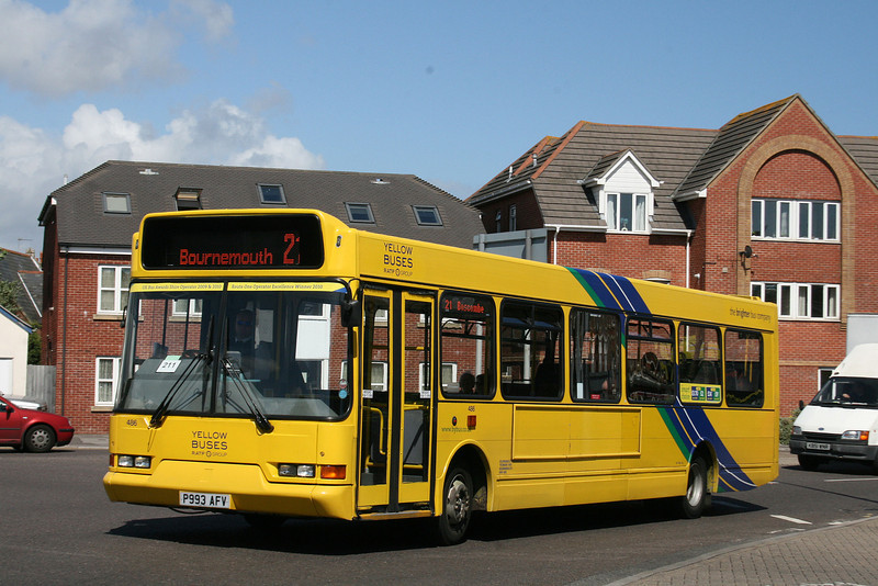 486, P993AFV, Yellow Buses, Ashley Road, Boscombe