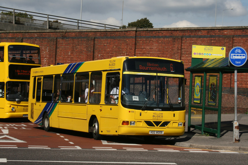155, VDZ8006, Yellow Buses, Bournemouth Travel Interchange