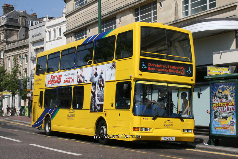412, Y412CFX, Yellow Buses, Gervis Place, Bournemouth.