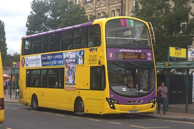 122, HF11HCU, Yellow Buses, Bournemouth Square