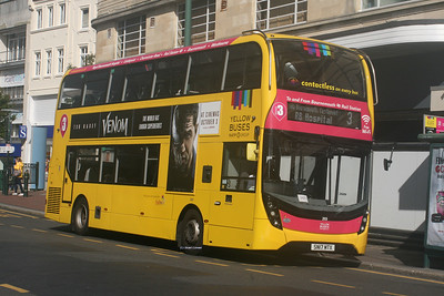 203, SN17MTX, Yellow Buses, Bournemouth Square