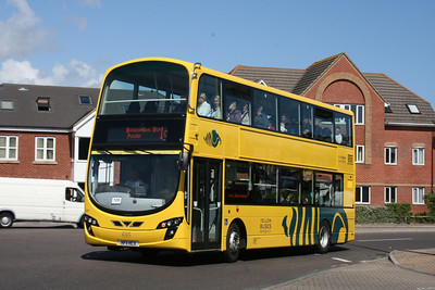 124, HF11HCX, Yellow Buses, Ashley Road, Boscombe