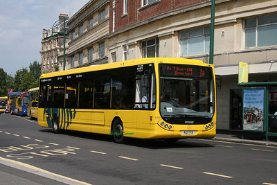 12, R12TYB, Yellow Buses, Gervis Place, Bournemouth.