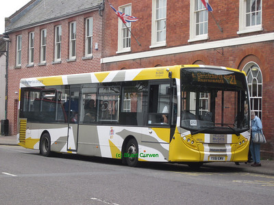 31, YX61EMV, Yellow Buses, Christchurch High Street.