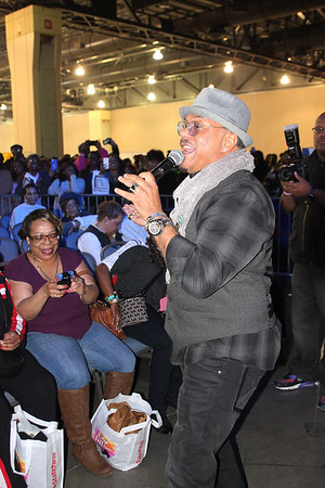 R&B singer, Howard Hewett performs live at the 2016 BE Expo at the Convention Center in Philadelphia, PA.