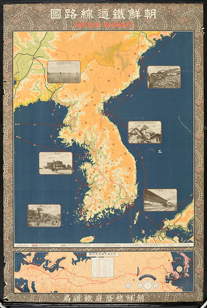 Chōsen Tetsudō senrozu = Chosen Railways [Map of Korea]