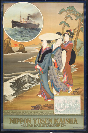 Nippon Yusen Kaisha = Japan Mail Steamship Co. [Three ukiyo-e women]