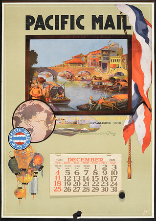 Pacific Mail: Pacific Mail Steamship Company: under American flag [American flag]