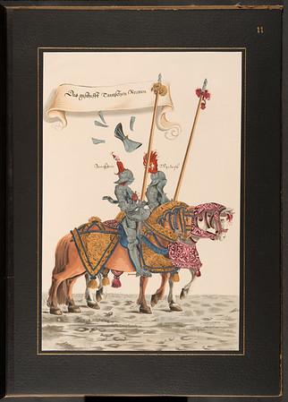 Hans Burgkmair des Jüngeren Turnierbuch von 1529: sechszehn Blätter in Handkolorit