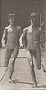 Two nude boys running