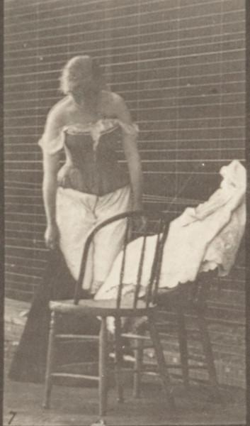 Woman undressing