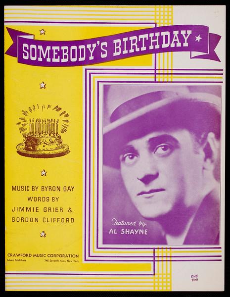 Somebody's birthday
