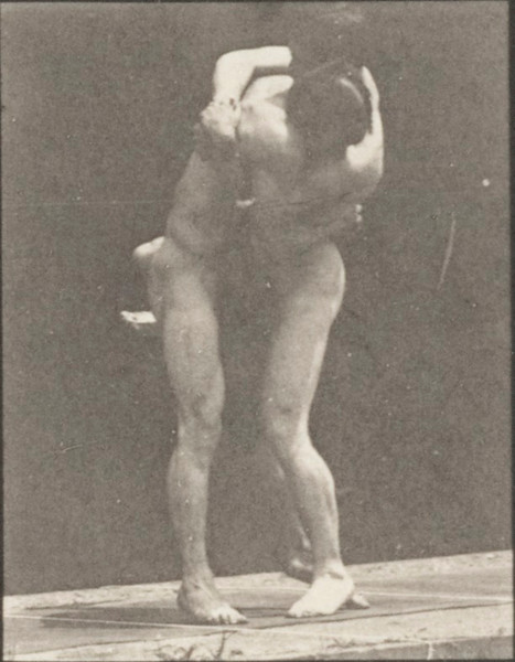Nude men wrestling