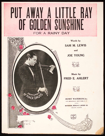 Put away a little ray of golden sunshine for a rainy day