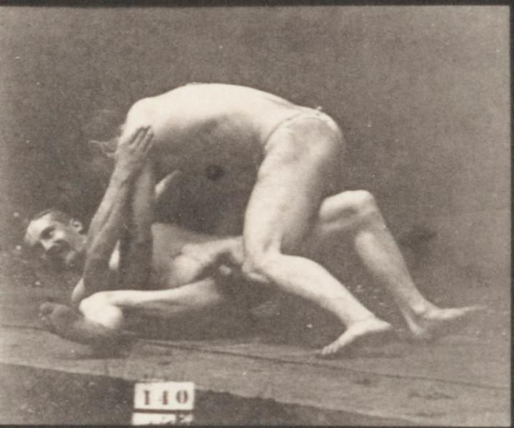 Nude men wrestling