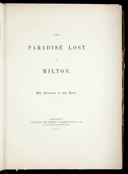 The Paradise lost of Milton