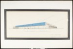 Architectural sketch of Vons Market, Long Beach, [by] Carl Marston, 1962