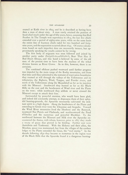 The Apsaroke, or Crows. The Hidatsa, 1909