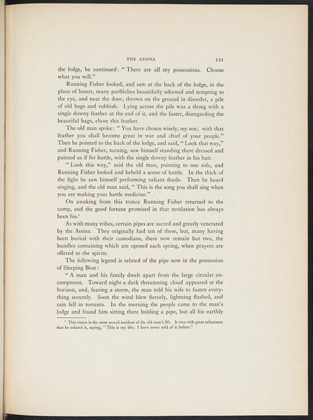 The Mandan. The Arikara. The Atsina, 1909