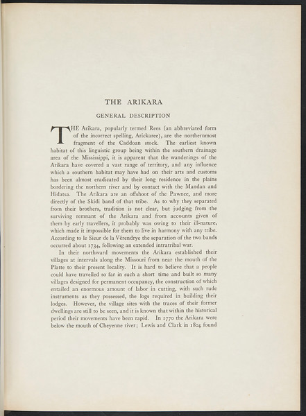 The Mandan. The Arikara. The Atsina, 1909