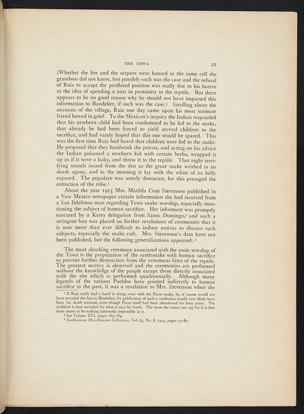 The Tewa. The Zuñi, 1926