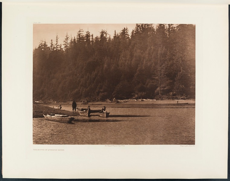 The North American Indian, vol. 9 suppl., pl. 296. The mouth of Quinault River