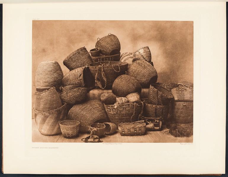 The North American Indian, vol. 9 suppl., pl. 309. Puget Sound baskets