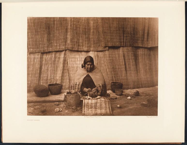 The North American Indian, vol. 9 suppl., pl. 310. Basket maker