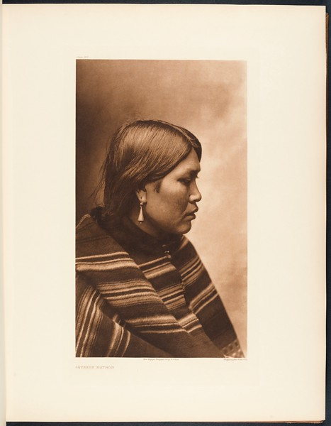 The North American Indian, vol. 9 suppl., pl. 307. Squaxon matron