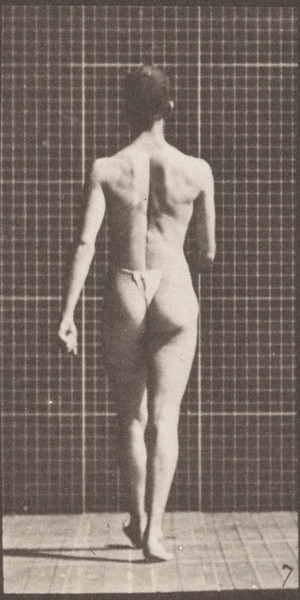 Man in pelvis cloth walking