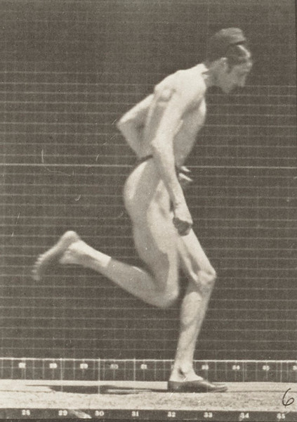 Man in pelvis cloth running at full speed